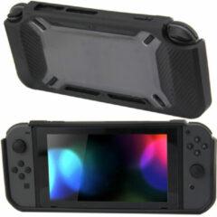 Merkloos / Sans marque Hard Case Cover voor Nintendo Switch Beschermhoes - Rubber Touch Zwart - Grijs/Transparant