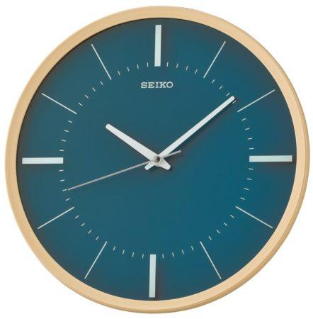 Afbeelding van Seiko Clocks Seiko QXA731Y Wandklok Quartz blauw-groen 31,2 cm