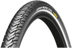 Zwarte Michelin Protek Cross Max Reflex - Buitenband - Maat 32-622 | 700 x 32c - Zwart