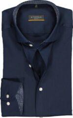 ETERNA Slim Fit overhemd - blauw superstretch (contrast) - Strijkvrij - Boordmaat: 39