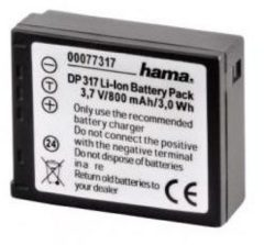 Hama 00077317 Rechargeable Li-Ion Battery DP 317 f/ Panasonic