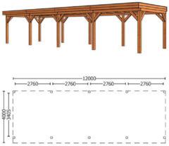 Trendhout | Buitenverblijf Refter XL | 12000 x 4000 x 2600 mm