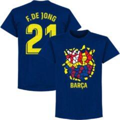 Blauwe Retake Barcelona F. De Jong 21 Gaudi Logo T-Shirt - Navy - S