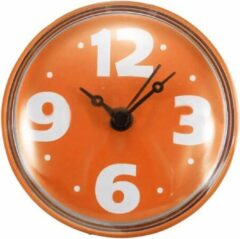Missan Online Missan: Quartz Badkamerklok Hoog Kwaliteit Oranje - Badkamer Klok Waterdicht - Douche klok - Badkamer klok - Keuken klokje