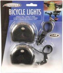 Bicycle gear - Fietsverlichting - LED - Batterij - Transparant/Zwart