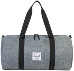 Grijze Herschel Supply Co. Sutton Mid-Volume Duffle raven crosshatch / black Weekendtas