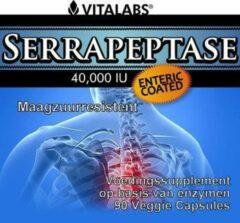 Vitalabs VitaTabs Serrapeptase 40.000 IE - 90 vegetarische capsules - Voedingssupplementen