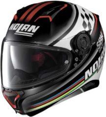 Nolan N87 Sbk N-Com 060 Mat Zwart Wit Rood Integraalhelm - Motorhelm - Maat XXL