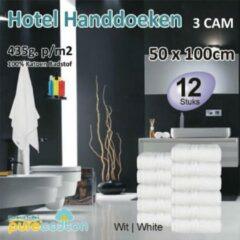 NoLizzz Handdoeken Hotel - Wit - 3Cam 50x100 (per 12 stuks)