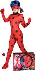 Rode VIVING COSTUMES / JUINSA - Ladybug Miraculous kostuum voor kinderen - 152 - 158 (12 - 14 jaar) - Kinderkostuums