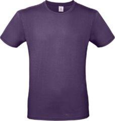 Bc Set van 3x stuks paars basic t-shirt met ronde hals voor heren - katoen - 145 grams - paarse shirts / kleding, maat: M (50)
