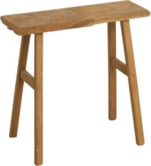 Bruine Raw Materials Carpenter bankje - Tafeltje - 40x17x50 cm