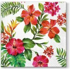 PAW Hawaiian Flowers papieren servetten