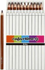 Colortime Kleurpotloden Jumbo 5 Mm Vulling Bruin 12 Stuks