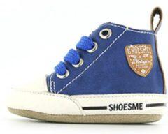 Blauwe Shoesme Jongens Baby Slofjes - Cobalt - Maat 19