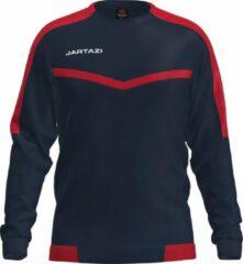 Marineblauwe Jartazi Sportsweater Torino Junior Polyester Navy/rood Mt 146/152