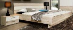 Bett 180 x 200 mit Nako Set Sandeiche/ weiss FORTE MÖBEL Valerie