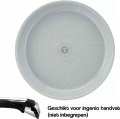 Grijze Tefal Ingenio Preserve Hoogwaardig Aluminium Koekenpan - 24 cm