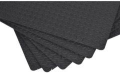 HOMCOM 6 tlg Puzzlematte Bodenschutzmatte EVA schwarz Gummimatte Bodenschutzmatte EVA Bodenmatte