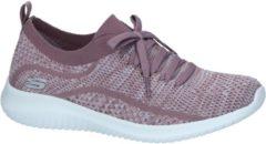Skechers Ultra Flex Dames Sneakers - Paars - Maat 36