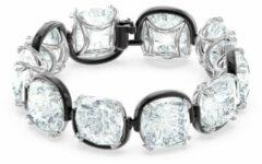 Swarovski 5600047 Armband Harmonia Cushion zilverkleurig-zwart