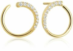 Goudkleurige SIF JAKOBS JEWELLERY PORTOFINO EARRINGS SJ-E12012-CZ-SG