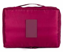 CoshX® Toilettas wijn rood   Make up tas   Make-up organizer   Cosmetica tas   Reis organiser