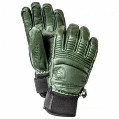 Hestra - Leather Fall Line 5 Finger - Handschoenen maat 7, olijfgroen/grijs/zwart