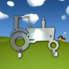 Roestvrijstalen Designkapstokjes.nl Designkapstokje Tractor - RVS - Kapstokje Tractor - Kapstok Traktor - Kraamcadeau leuk