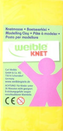 Afbeelding van Engelhart Weible Knet Fantasie Klei Blokvorm Geel - 250 Gram