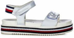 Witte Tommy Hilfiger Platform Velcro meisjes sandaal 30650 White