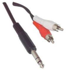 Valueline Jack 6,35 mm männlich Stereo-audio-Erweiterung-Kabel-2 x RCA männlic
