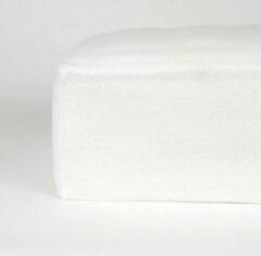 Home bedding Premiun molton Hoeslaken voor Matras Eenpersoons 90x200 cm Rondom Elastiek+30 cm hoekhoogte-Wit