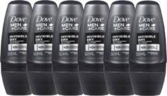 Dove Men+Care Dove Deodorant Roller for Men - Invisible Dry - 6 x 50 ml - voordeelverpakking