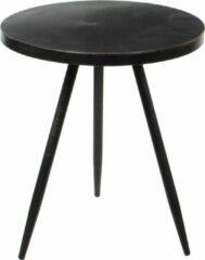 Mica Decorations ronde tafel zwart maat in cm: 40 x 35 - Zwart