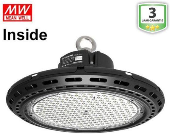 Afbeelding van Groenovatie LED Halstraler UFO 240W Pro Koel Wit, MeanWell Driver Inside