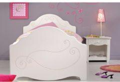 Einzelbett mit Nako 2-tlg 'Alice 4' Weiß Parisot Weiß