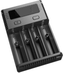 Zwarte Nitecore Intellicharge New i4 4 chanel Intilligent charger for Li-ion/Nimh/Ni-Cd batteries