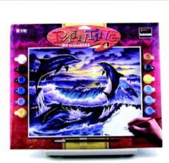 """Schilderen op nummer """"Sequin Art"""" Senior Dolfijnen"""