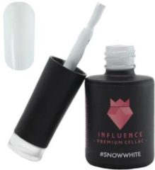 Influence - Premium Gellac Influence Gellac #SNOWWHITE - UV / LED Gellak - Gel nagellak - WIT / Nailart - 10 ml