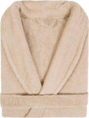 Badjas Badstof Uni Pure Royal met Shawlkraag Beige Zand col 2610 Maat S