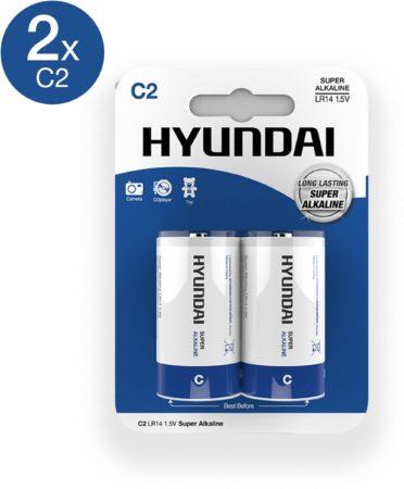 Afbeelding van Hyundai Battery Super Alkaline C-Batterijen - 2 Stuks