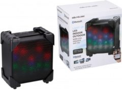 Zwarte Soundlogic draadloze led speaker - indoor & outdoor - zwart - bluetooth
