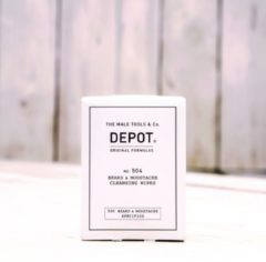 Depot The Male Tools & Co DEPOT No.504 BEARD&MOUSTACHE CLEANSING WIPES