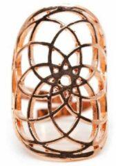 Spiru Verstelbare Ring Seed of Life Roze Goudkleur (30 mm)