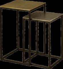 RENEW Bijzettafel 'Andre' Set van 2 stuks, kleur Brass / Zwart