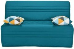 Blauwe Andere Joe Bench Seat BZ GEOMETRICO - Turquoise stof - B 143 x D 101 x H 95 cm