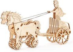 Craenen/Wooden City Wooden City modelbouwpakket Romeinse Strijdwagen hout - 130mm hoog x 220mm breed x 55mm diep - naturel kleur