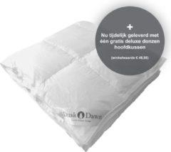 Witte Dusk till Dawn - All Year - 140x200 cm - Eenpersoons - Donzen Dekbed - Dons