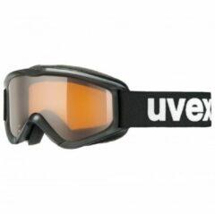Uvex - Kid´s Speedy Pro Lasergold S2 - Skibril zwart/grijs/beige